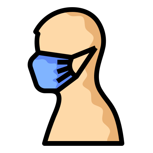 face, mask, protection, safety, wear icon
