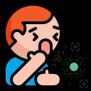 coronavirus, cough, flu, sick, virus icon
