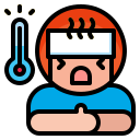 disease, fever, medical, temperature, virus icon