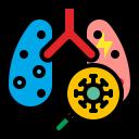 coronavirus, covid, infection, lung, pneumonia, virus icon