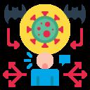 bat, coronavirus, covid, human, spread, virus icon