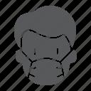 coronavirus, covid-19, man, mask, medical, protection, virus icon