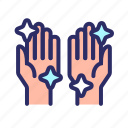 clean, hand, health, hygiene, washing hand icon