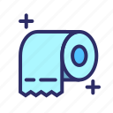 clean, corona, paper, tissue, toilet paper icon