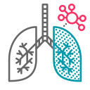 lung, covid19, coronavirus, disease, virus, pulmonary, respiratory icon