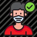 man, facemask, covid19, coronavirus, male