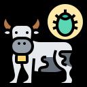 animal, bacteria, cow, virus icon