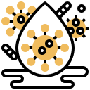 bacteria, coronavirus, covid, droplet, spread, virus icon
