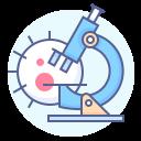 analysis, coronavirus, laboratory, microscope icon