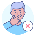 avoid touching your face, coronavirus, preventive, stop icon