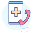 call, doctor, online consultation, smartphone icon