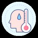 coronavirus, fever, high temperature, symptom icon