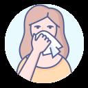 coronavirus, runny nose, sneeze, symptom, tissue icon