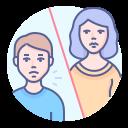 contact, coronavirus, preventive measure, social distancing icon