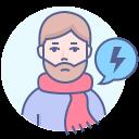coronavirus, flu, sore throat, symptom icon