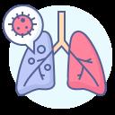 coronavirus, covid-19, lungs, pneumonia icon