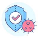 virus, protection, prevention, shield icon