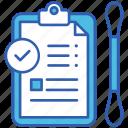 covid, report, test, virus, medical, corona, clipboard