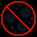 caution, coronavirus, danger, pandemic, prohibit0 icon