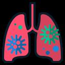 anatomy, coronavirus, lung, medical, organ, virus0 icon