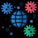 coronavirus, disease, earth, globe, infection, spreading0, virus icon