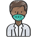 avatar, coronavirus, doctor, male, medical, profession icon