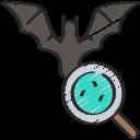 animal, bat, coronavirus, flu, infected, infection, loupe icon