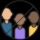 coronavirus, group, groups, meeting, no, sign