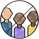 coronavirus, group, groups, meeting, no, sign icon