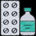 coronavirus, medication, pills, prescription, tablets icon