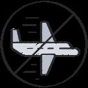 aeroplane, airplane, coronavirus, flights, flying, no, travel icon