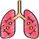 coronavirus, disease, infected, infection, lungs, respiritory icon