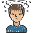 coronavirus, dizziness, dizzy, sad, unwell icon