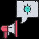coronavirus, megaphone, news, speech, spread, virus icon