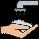 clean, coronavirus, hands, hygiene, soap, wash, water icon