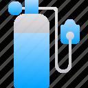 breathing, oxygen, tank, tube