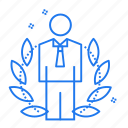 avatar, company, employee, stamp icon