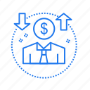 avatar, coin, dollar, money icon