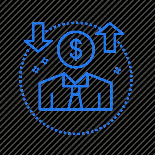 avatar, coin, dollar, money icon