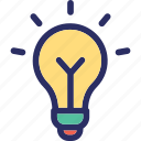 bulb, creative, idea, illumination, strategy icon