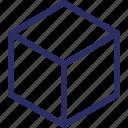 shape, cube, design, geometrical, 3d cube icon