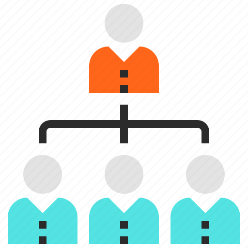 hierarchy, people, structure, team icon