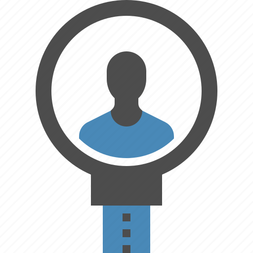 find, human, magnifier, professional, recruitment, resources, search icon