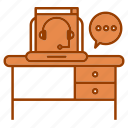 consulting, corporate business, device, online, pc, table icon
