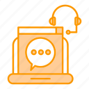 chat, corporate business, headphone, speech icon