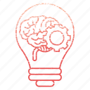 brainstorm, business, corporate, idea, lamp icon