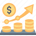 business, finance, growth, marketing, money, plan, profit icon