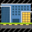 corporate business, corporate headquarter, corporate office, head office, luxury office icon