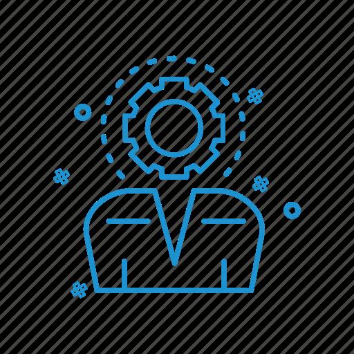 gear, profile, setting, user icon