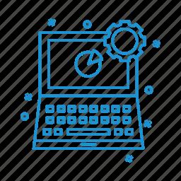 business, chart, laptop, management icon